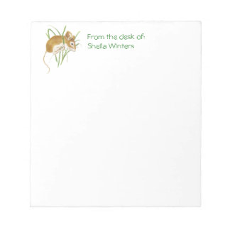 Cute Mouse Hanging In, Animal, Nature, Wildlife Notepad