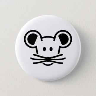 Cute mouse head face pinback button