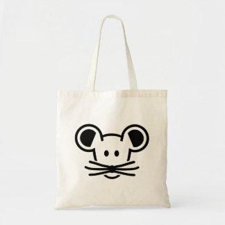Cute mouse head face tote bag