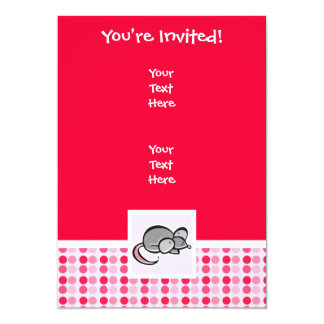 Cute Mouse 5x7 Paper Invitation Card