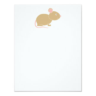 Cute Mouse. 4.25x5.5 Paper Invitation Card
