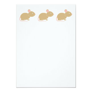 Cute Mouse. 5x7 Paper Invitation Card