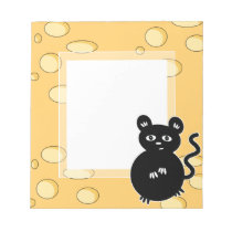 Cute Mouse Loves Cheese Notepad