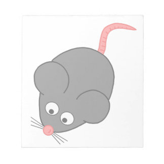 Cartoon Mouse Notepads | Zazzle