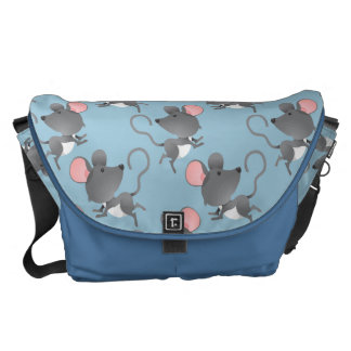Cute Mouse Pattern Any Color Background Courier Bag
