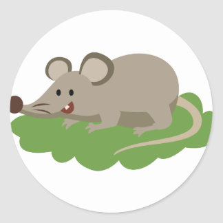 cute mouse rat classic round sticker