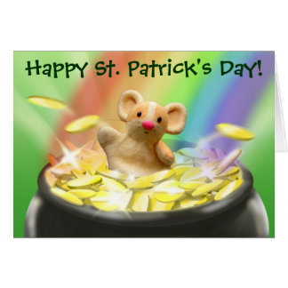 Cute Mouse St. Patrick's Day Card