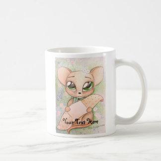 Cute mouse with bandage mug