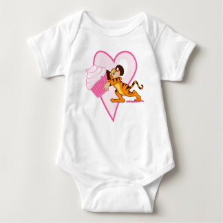 Cute Mouse With Cupcake Baby Bodysuit
