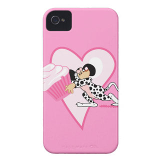 Cute Mouse With Cupcake Case-Mate iPhone 4 Case