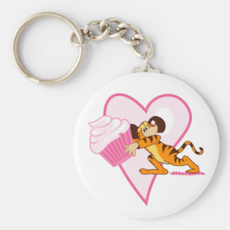 Cute Mouse With Cupcake Keychain
