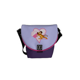Cute Mouse With Cupcake Messenger Bag