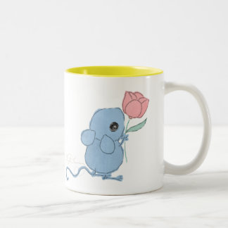 Cute Mouse with Tulip Collector Mug ~ AngelArtiste