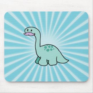 Cute Moustache Dinosaur Mouse Pad