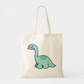 Cute Moustache Dinosaur Tote Bag