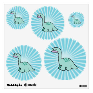 Cute Moustache Dinosaur Wall Sticker