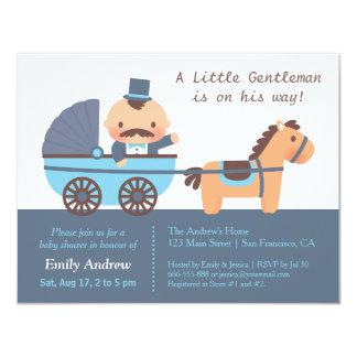 Cute Moustache Gentleman Baby Boy Shower Card