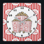 "Cute Movie theater room popcorn clock<br><div class=""desc"">design by  www.etsy.com/Shop/TheGraphicsMonster back by www.etsy.com/Shop/JLaurieStudio</div>"