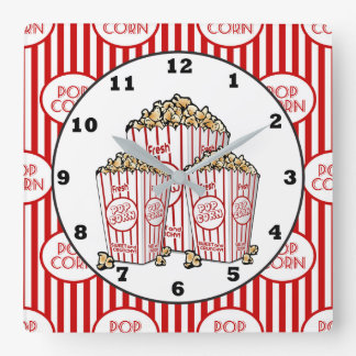 Cute Movie theater room popcorn clock