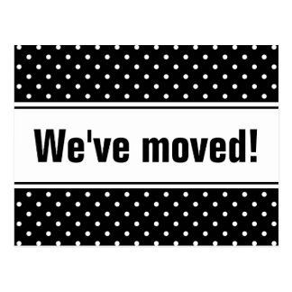 Cute moving postcards with polka dots