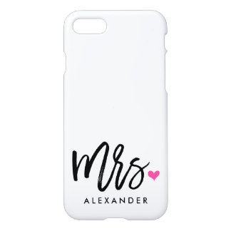 Cute Mrs. (NAME) iPhone 7 Case