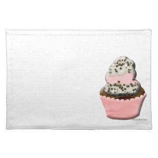 Cute muffin cupcake design Illustration Placemat