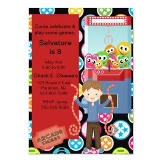 Cute, Multi Color, Arcade Birthday Boy Invitation