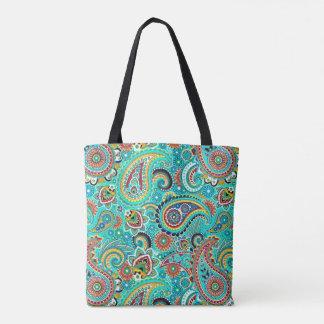 Cute Multicolored Paisley Pattern Tote Bag