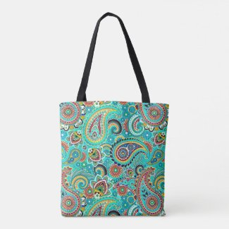Cute Multicolored Paisley Pattern
