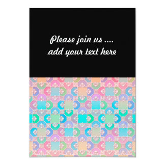 Cute Multicolored Squares Fancy Pattern Card