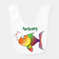 Cute Multiple Colored Goldfish Personalized Bib