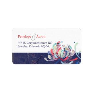 Cute Mum Flower Wedding Return Address Labels