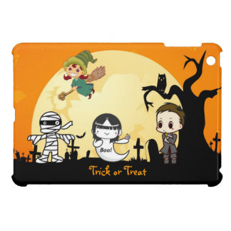 Cute Mummy Ghost Witch Priest - Kids Halloween Case For The iPad Mini