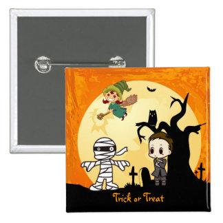 Cute Mummy Ghost Witch Priest - Kids Halloween Pin