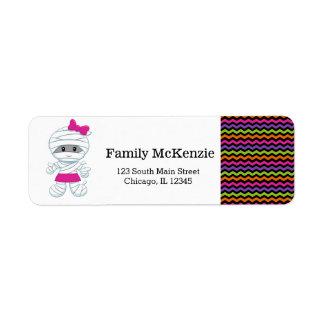 Cute mummy girl labels