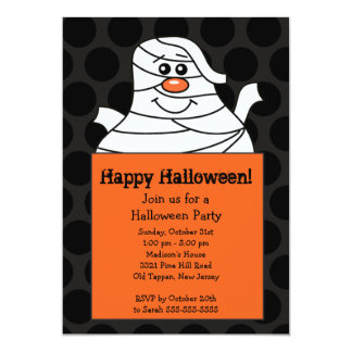 Cute Mummy Halloween Party Invitation for kids