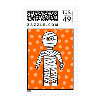 Cute Mummy Halloween Postage Stamp