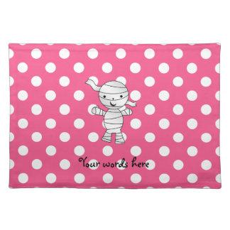 Cute mummy pink polka dots placemats