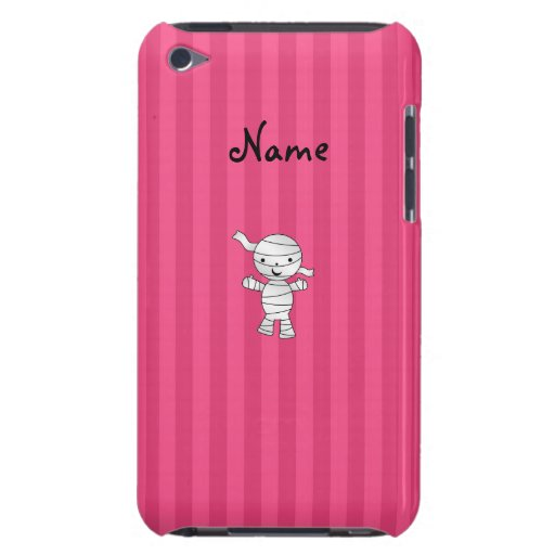 Cute mummy pink stripes barely there iPod case