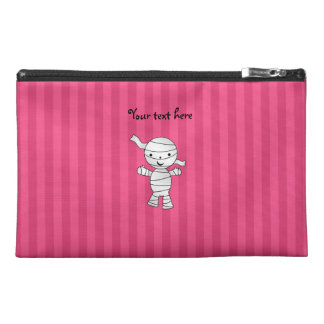 Cute mummy pink stripes travel accessories bags