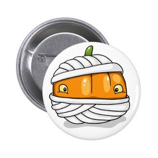 Cute mummy-pumpkin button