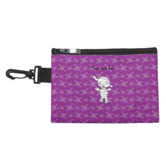 Cute mummy purple skulls accessories bags