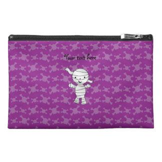 Cute mummy purple skulls travel accessories bag