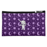 Cute mummy purple stars and moons cosmetics bags