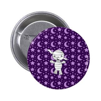 Cute mummy purple stars and moons pattern pins