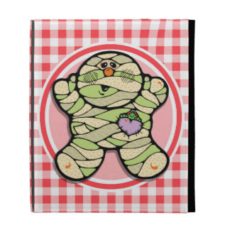 Cute Mummy Red and White Gingham iPad Folio Cover