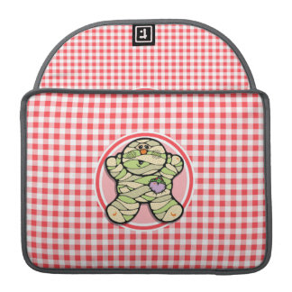 Cute Mummy; Red and White Gingham Sleeve For MacBook Pro