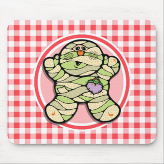 Cute Mummy; Red and White Gingham Mouse Pad