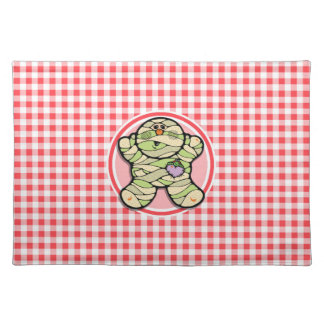 Cute Mummy Red and White Gingham Place Mat