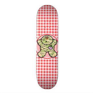 Cute Mummy; Red and White Gingham Skate Decks